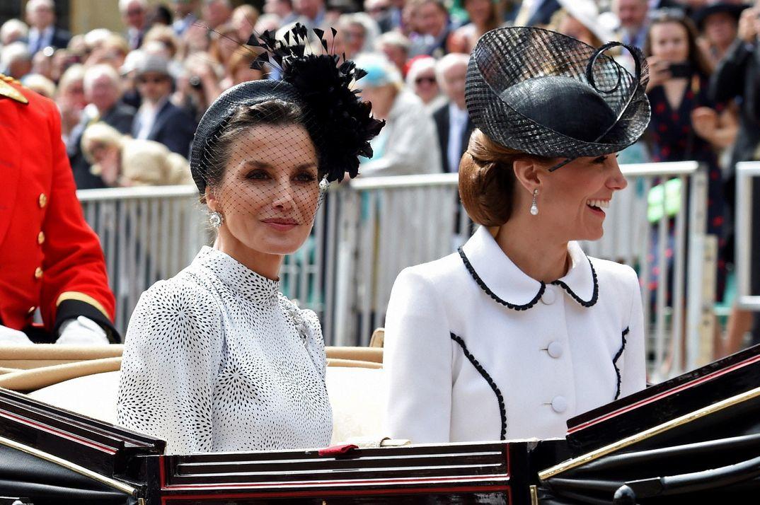 Reyes Felipe y Letizia con los duques de Cambridge © Casa S.M. El Rey
