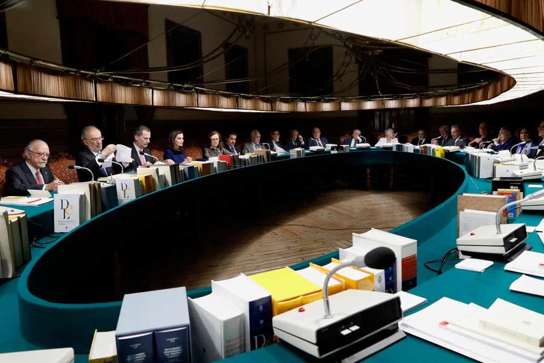 Reyes Felipe y Letizia - Sesión plenaria RAE - © Casa S.M. El Rey