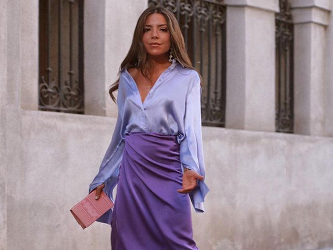 Las faldas de satén ¡a todo color!