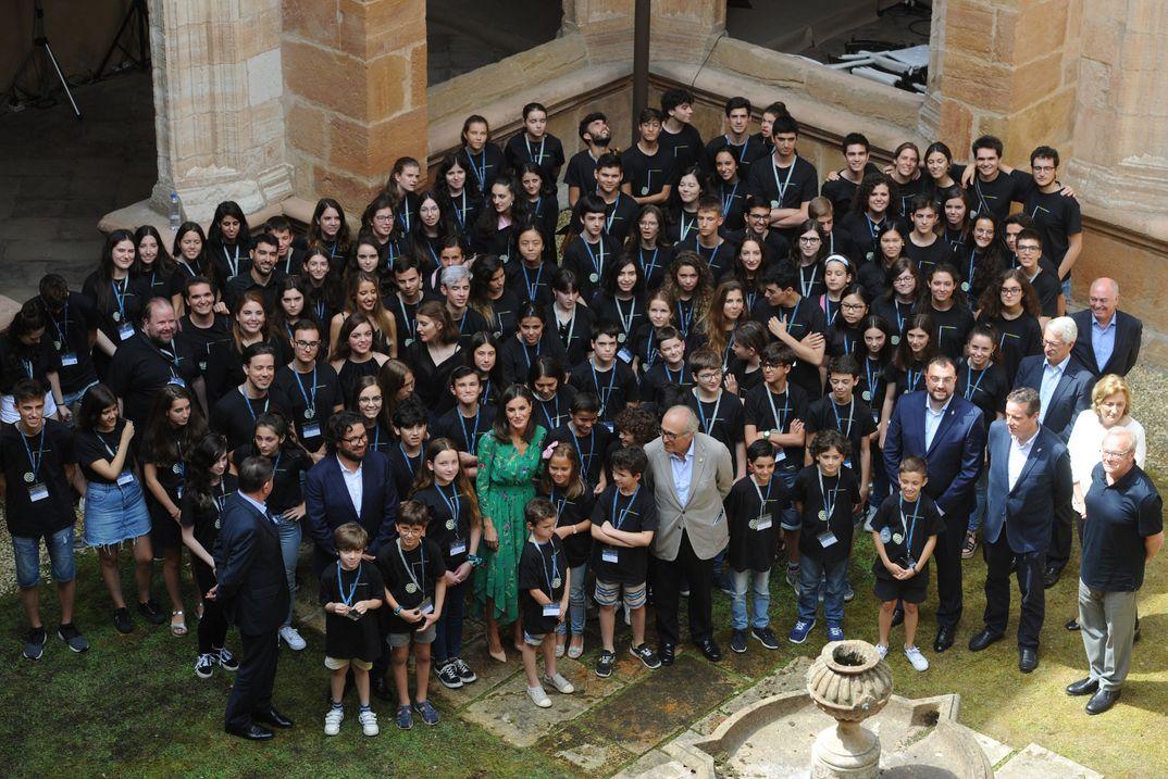 """La reina Letizia - Conferencia inaugural de los cursos de verano de la """"Escuela Internacional de Música"""" de la Fundación Princesa de Asturias © Casa S.M. El Rey"""