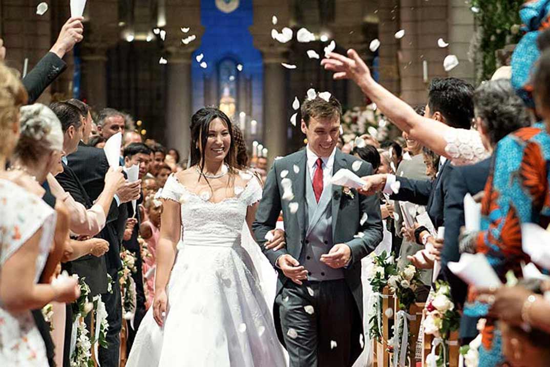 Así fue la romántica boda de Louis Ducruet y Marie Chevallier