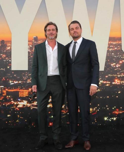 Brad Pitt y Leonardo DiCaprio… Duelo de galanes en la alfombra roja
