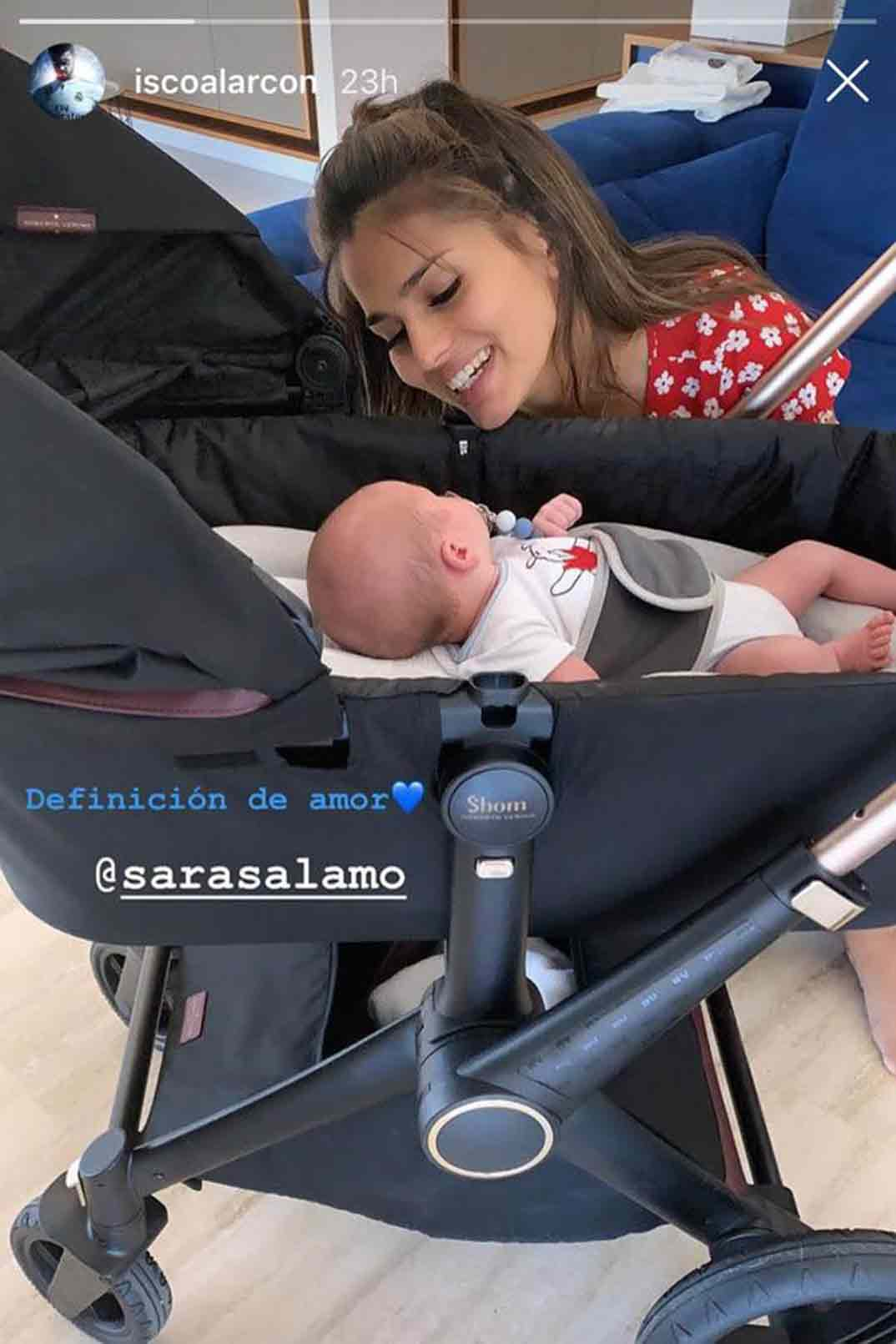 Sara Sálamo hijo - Stories/Instagram