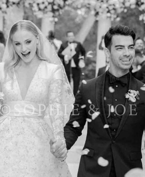 Así ha sido el espectacular vestido de novia de Sophie Turner