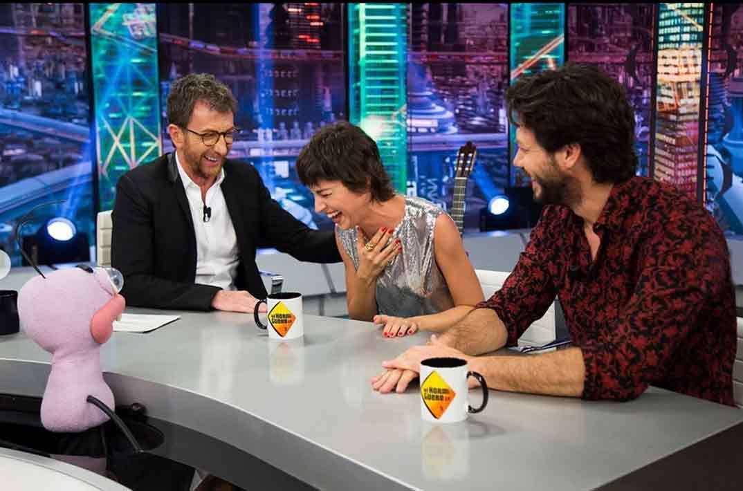 Úrsula Corberó y Álvaro Morte en El Hormiguero 3.0 © Redes Sociales