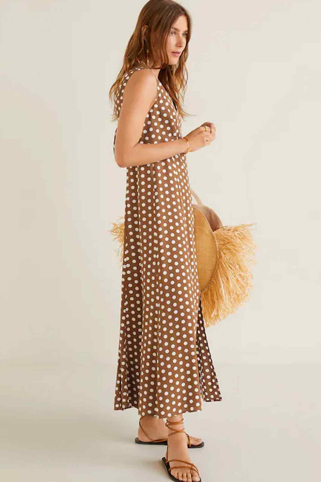 vestido-lunares-largo-mango