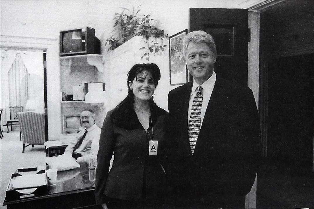 Bill Clinton con Monica Lewinsky - Archivo