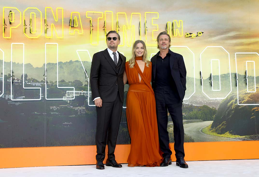 Brad Pitt, Leonardo DiCaprio y Margot Robbie