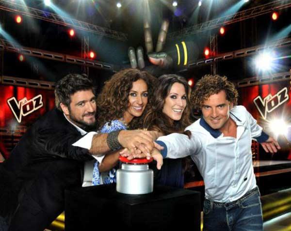 Antonio Orozco, Rosario Flores, Malú y David Bisbal - La Voz (foto archivo)