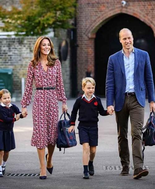 Así ha sido el primer día de colegio de Charlotte de Cambridge