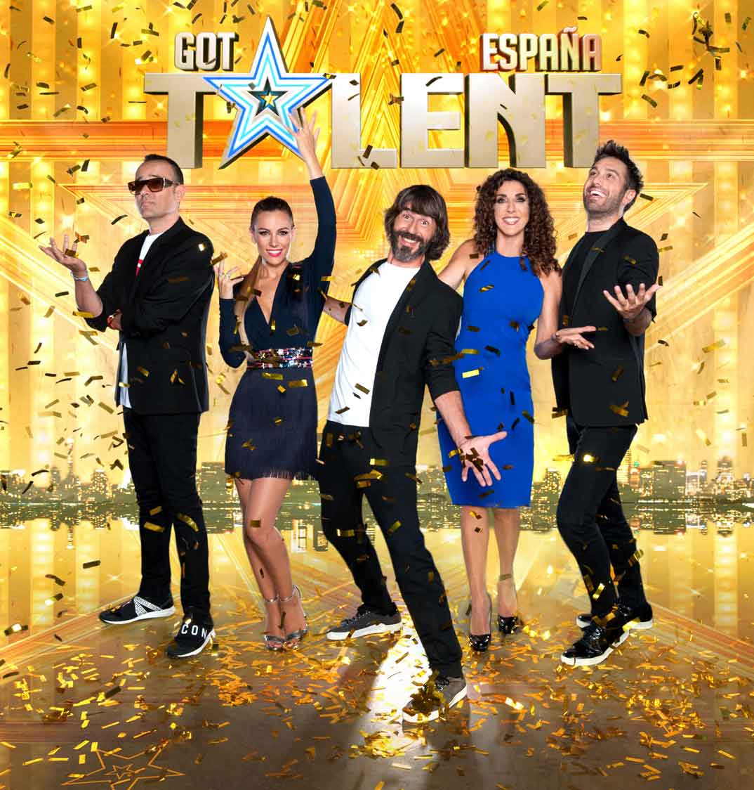 Risto Mejide, Edurne, Santi Millán, Paz Padilla y Dani Martínez - Got Talent España 5 © Mediaset