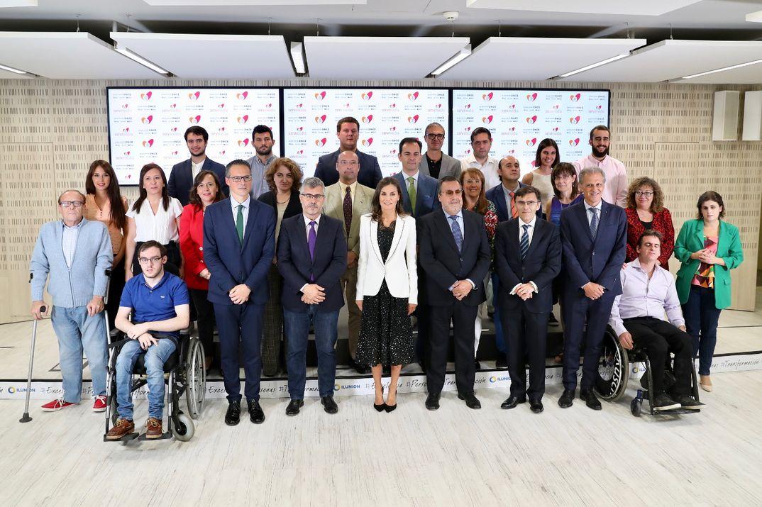 """Reina Letizia - Reunión de trabajo: """"La inclusión de la discapacidad en los medios informativos"""" © Casa S.M. El Rey"""