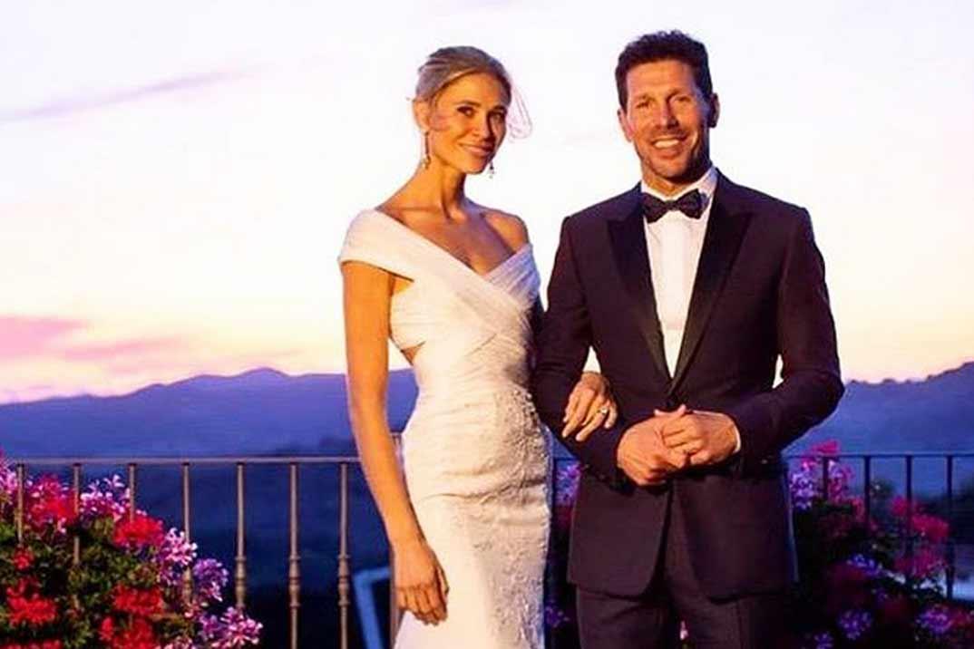 Carla Pereyra y Diego Simeone se casan de nuevo en la Toscana