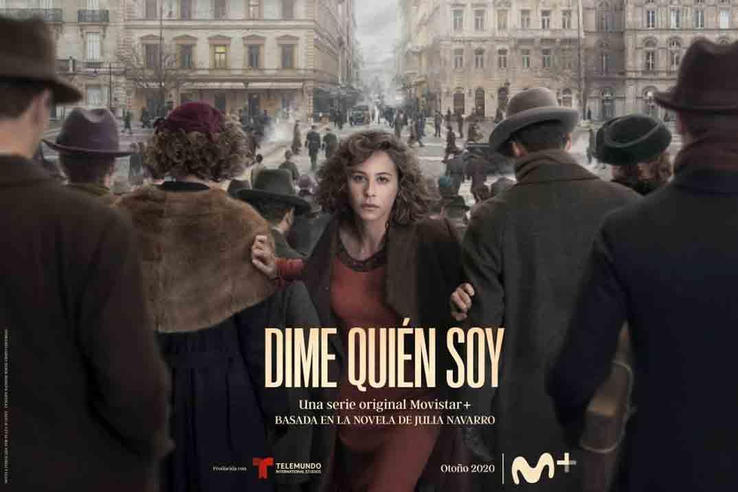 'Dime quién soy', póster oficial de la serie protagonizada por Irene Escolar, basada en el libro de Julia Navarro