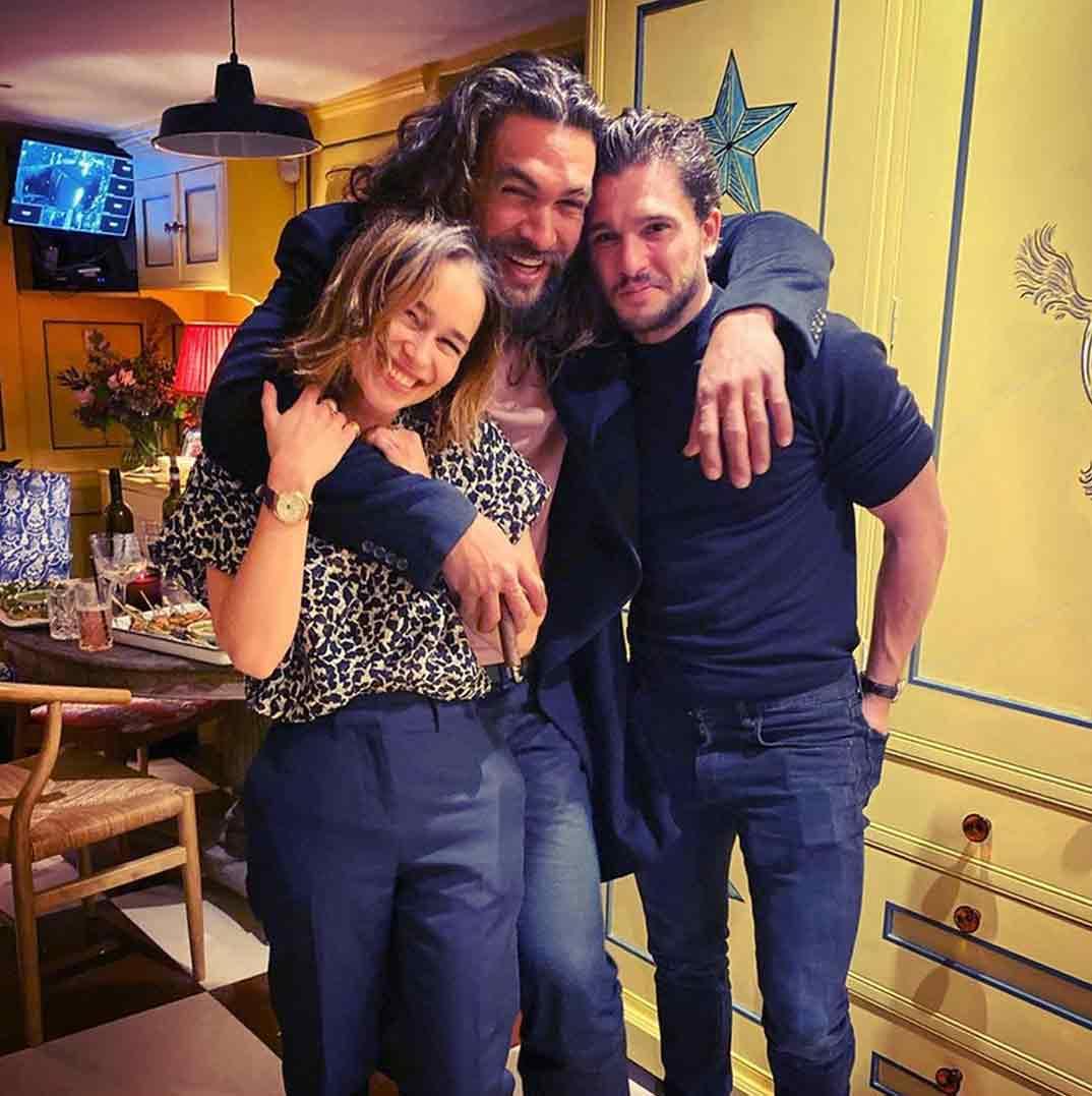 Emilia Clarke, Jason Momoa y Kit Harington © Instagram
