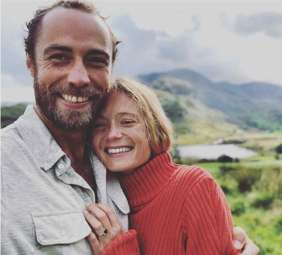 James Middleton y Alizee Thevenet © Redes Sociales