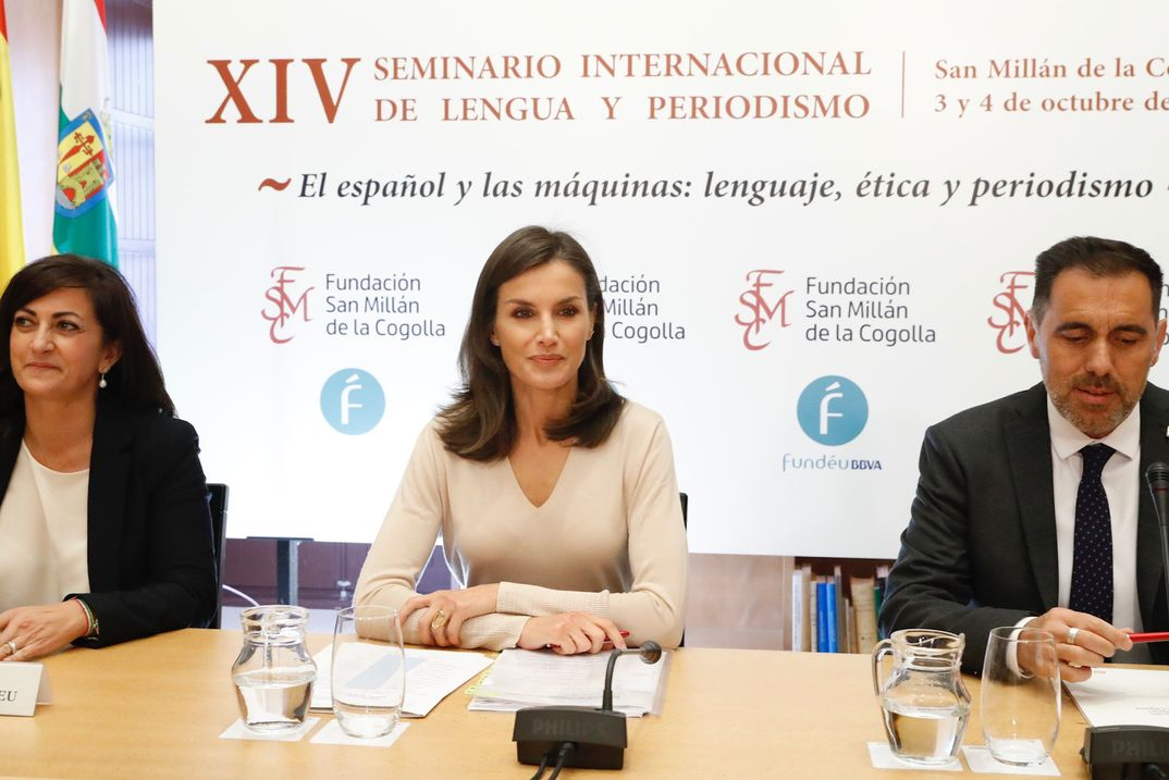 """Reina Letizia - Inauguración del XIV Seminario Internacional de Lengua y Periodismo: """"El Español y las máquinas: lenguaje, ética y periodismo"""" © Casa S.M. El Rey"""