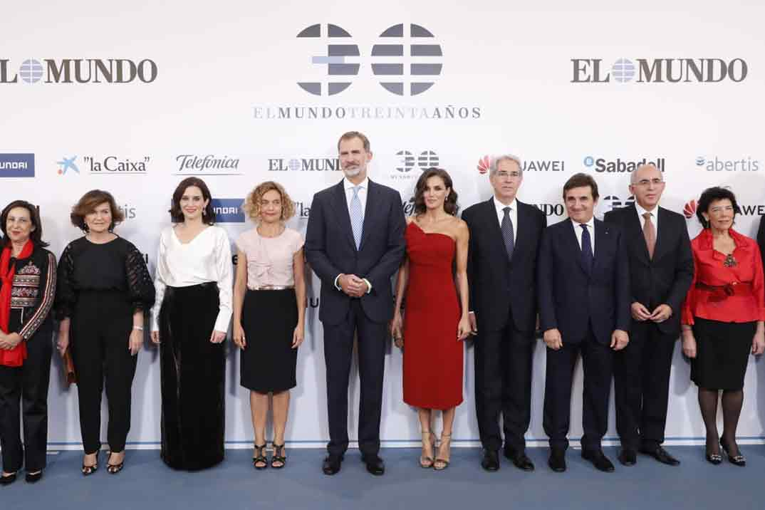 """Los Reyes presiden el 30º aniversario de """"El Mundo"""""""
