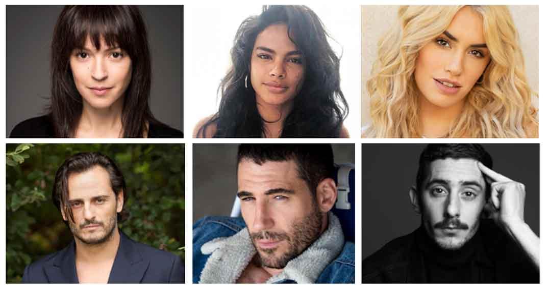 Miguel Angel Silvestre, Veronica Sanchez y el resto de protagonistas de Sky Rojo © Netflix