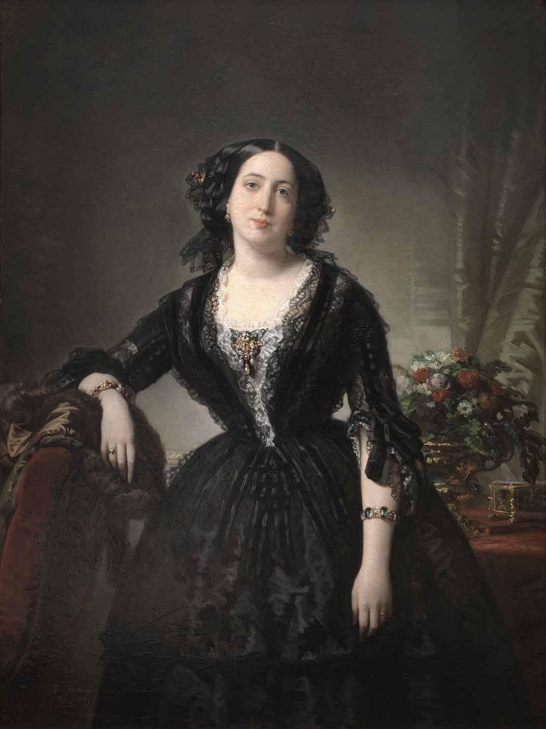 María Dolores de Aldama, marquesa de Montelo Federico de Madrazo 1855. Óleo sobre lienzo. Madrid, Museo Nacional del Prado