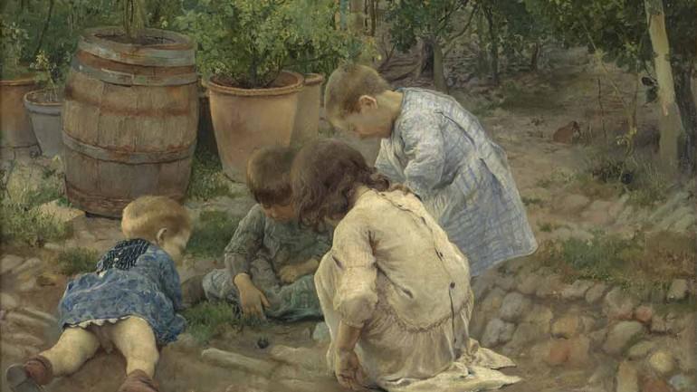 Los pequeños naturalistas José Jiménez Aranda 1893. Óleo sobre lienzo. Madrid, Museo Nacional del Prado