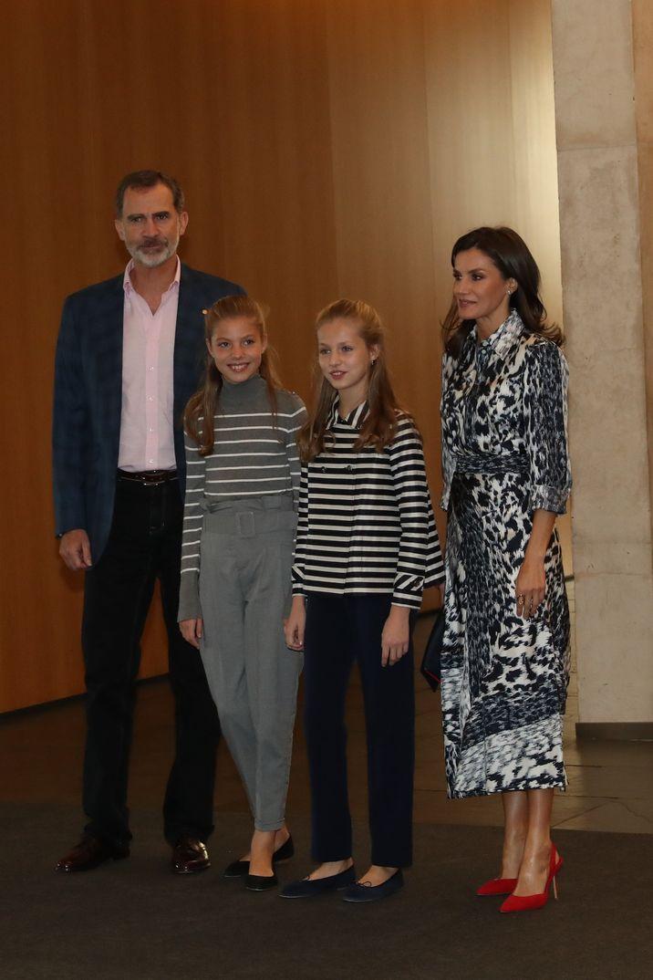 Los reyes Felipe y Letizia con la Princesa Leonor y la Infanta Sofía - Premios Princesa Girona 2019 © Casa S.M. El Rey