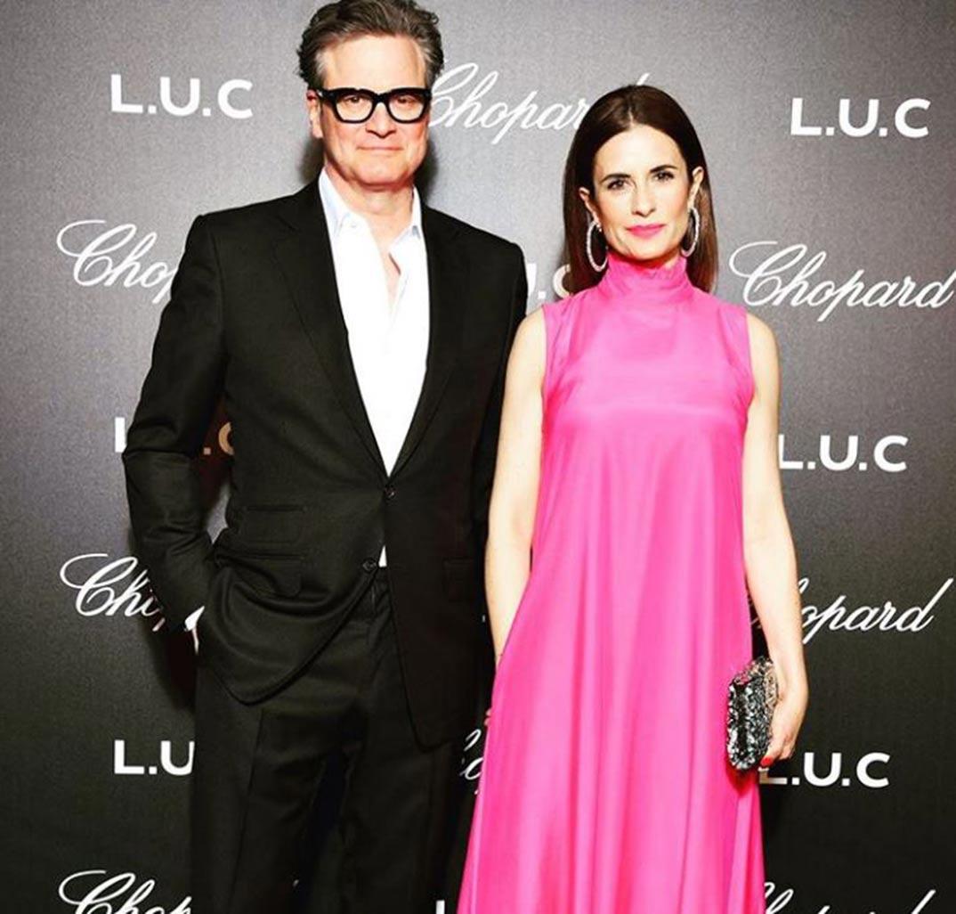 Colin Firth y su esposa Livia © Instagram