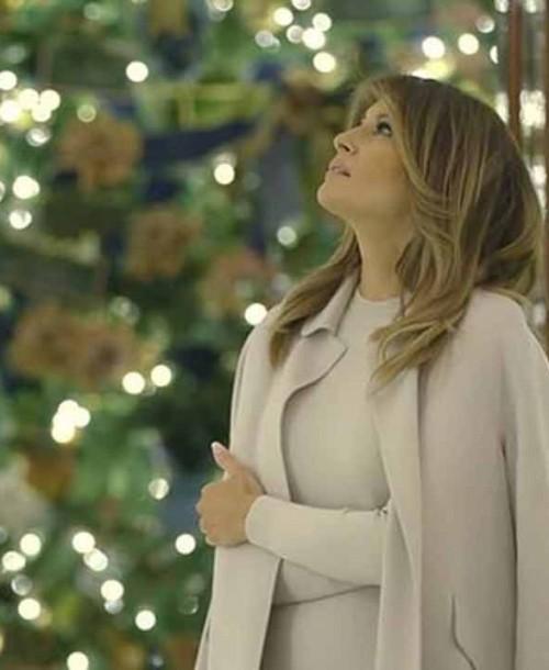 Melania Trump muestra la mágica decoración navideña de la Casa Blanca