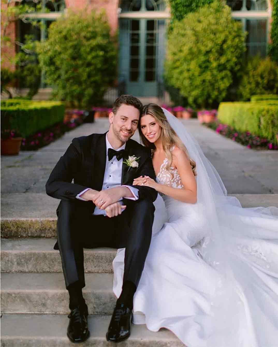Pau Gasol y Cat McDonnell boda © Instagram