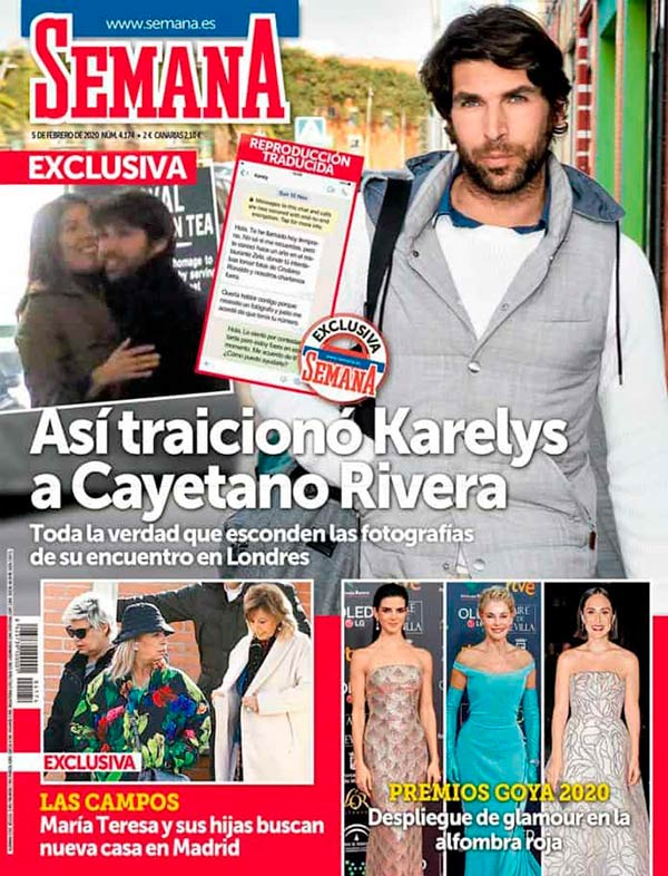 Karelys Rodríguez traición Cayetano Rivera - Revista Semana