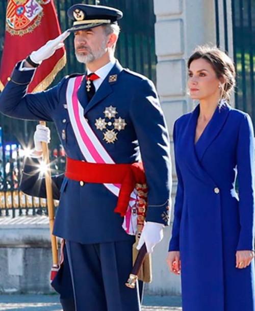 La reina Letizia estrena su look más espectacular en la Pascua Militar