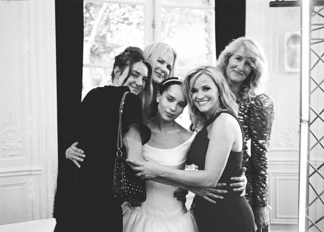 Nicole Kidman, Reese Witherspoon, Shailene Woodley y Laura Dern con Zoë Kravitz © Instagram