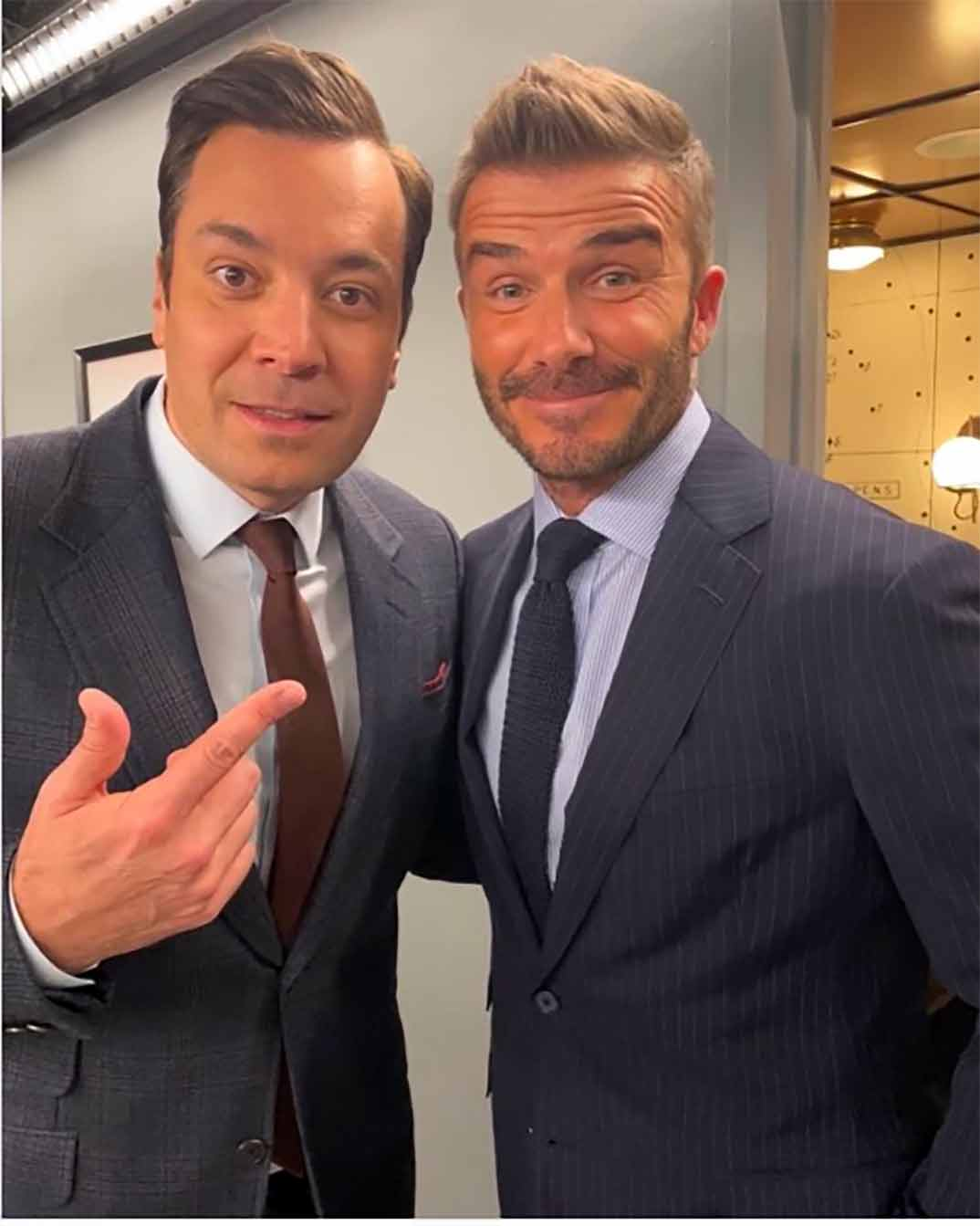 Jimmy Fallon y David Beckham © Instagram