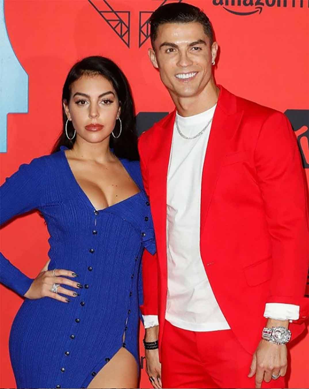 Georgina Rodríguez y Cristiano Ronaldo © Instagram
