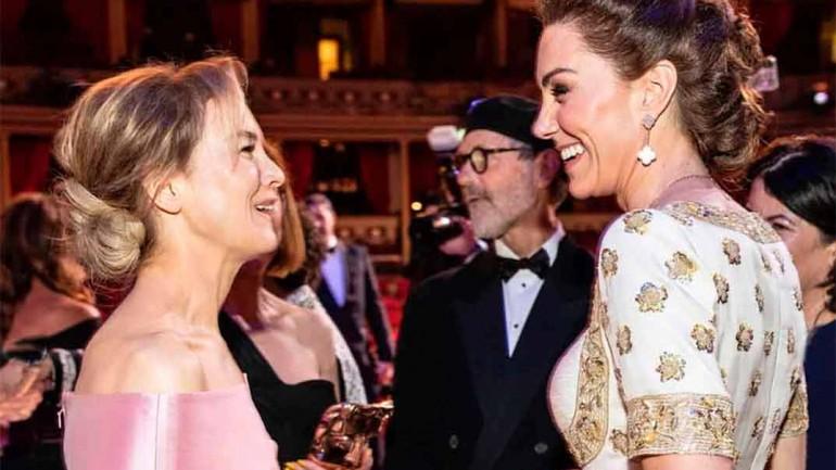 Kate Middleton con Renee Zellwegger - Premios Bafta 2020 © kesingtonroyal/Instagram