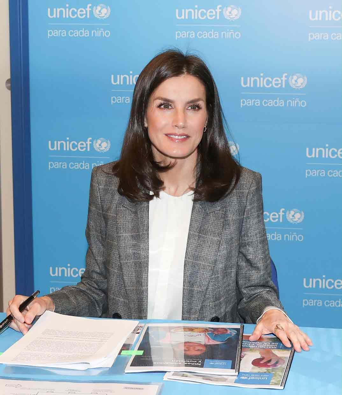Reina Letizia - Reunión de trabajo con UNICEF © Casa S.M. El Rey