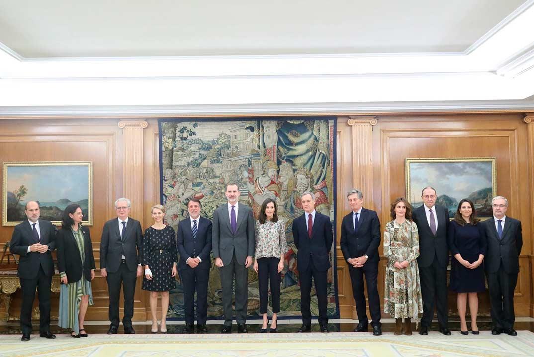 Reyes Felipe y Letizia - Audiencia Consejo de Administración de Atresmedia © Casa S.M. El Rey