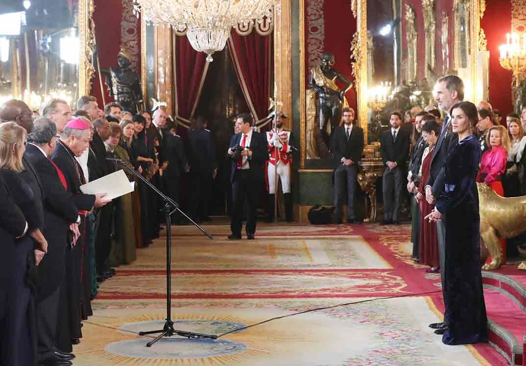 Reyes Felipe y Letizia - Recepción Cuerpo Diplomático © Casa S.M. El Rey
