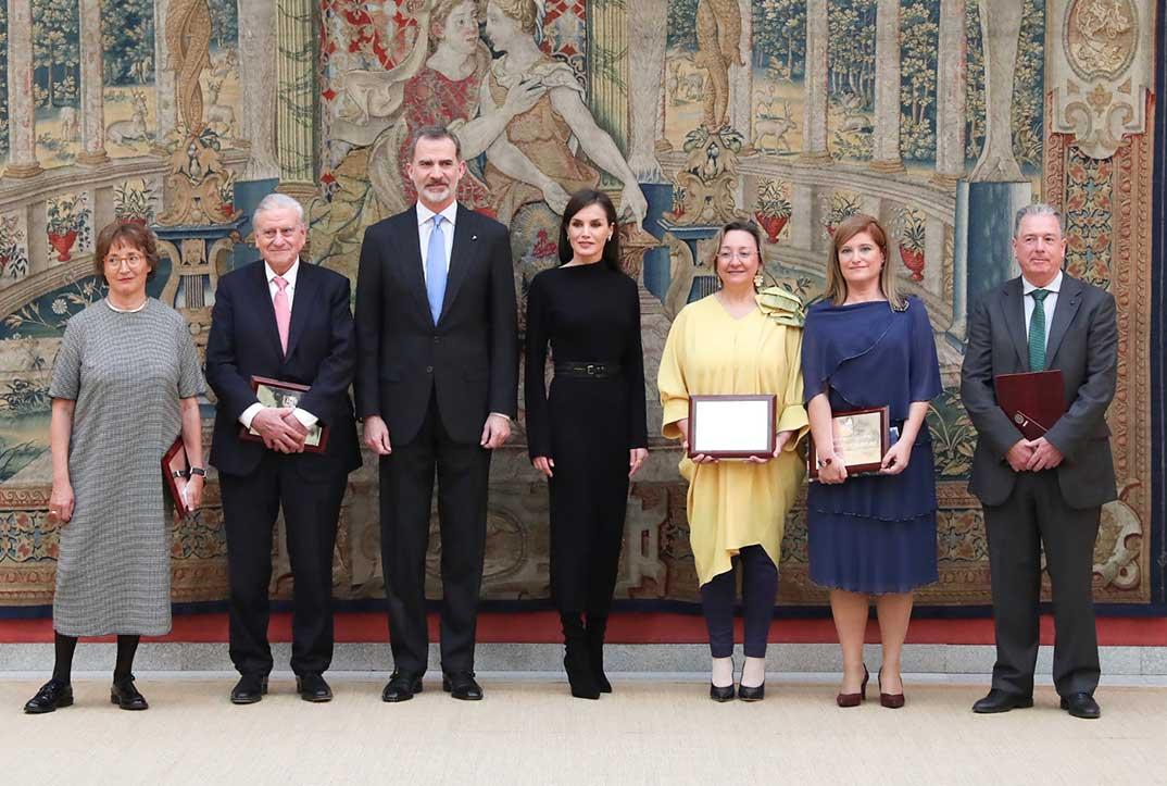 Reyes Felipe y Letizia - Premios Nacionales de Investigación 2019 © Casa S.M. El Rey