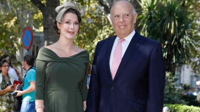 Marqués de Griñón y Esther Doña - Boda Fernando Fitz James Stuart y Sofía Palazuelo - 2018
