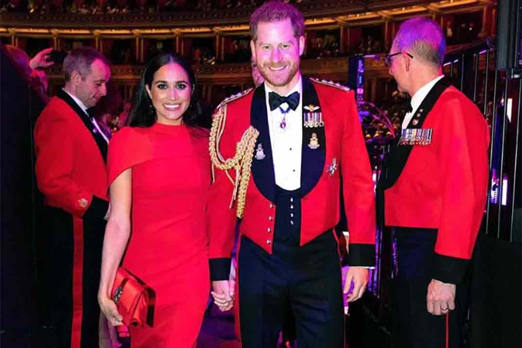 El espectacular vestido rojo de Meghan Markle antes del Megxit