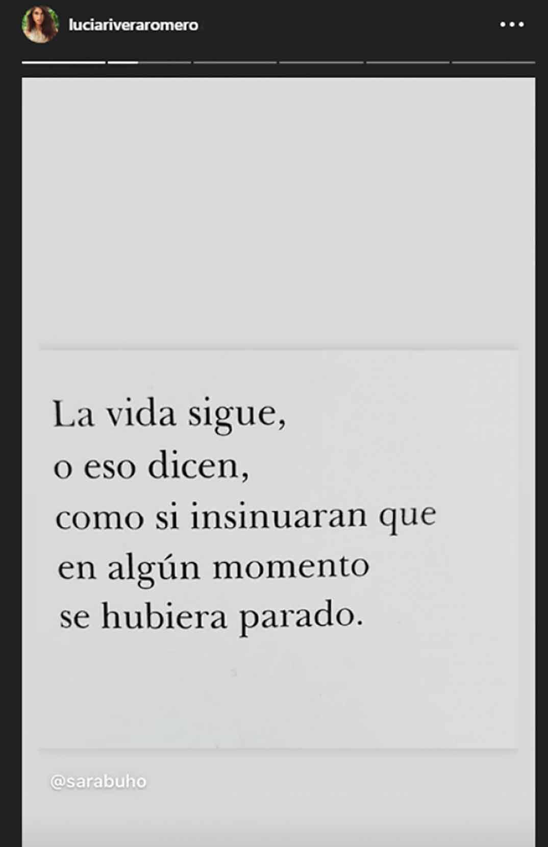 Lucía Rivera © Stories/Instagram