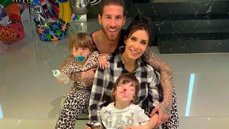 Pilar Rubio y Sergio Ramos con sus hijos © Instagram