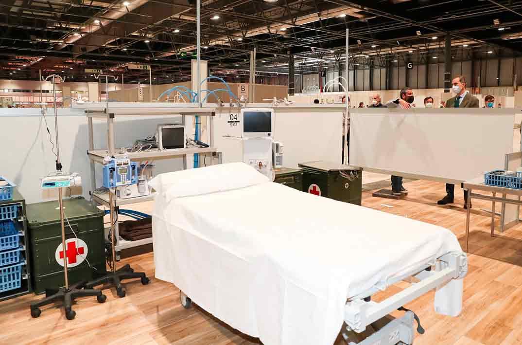 Rey Felipe VI - hospital de emergencia de IFEMA © Casa S.M. El Rey