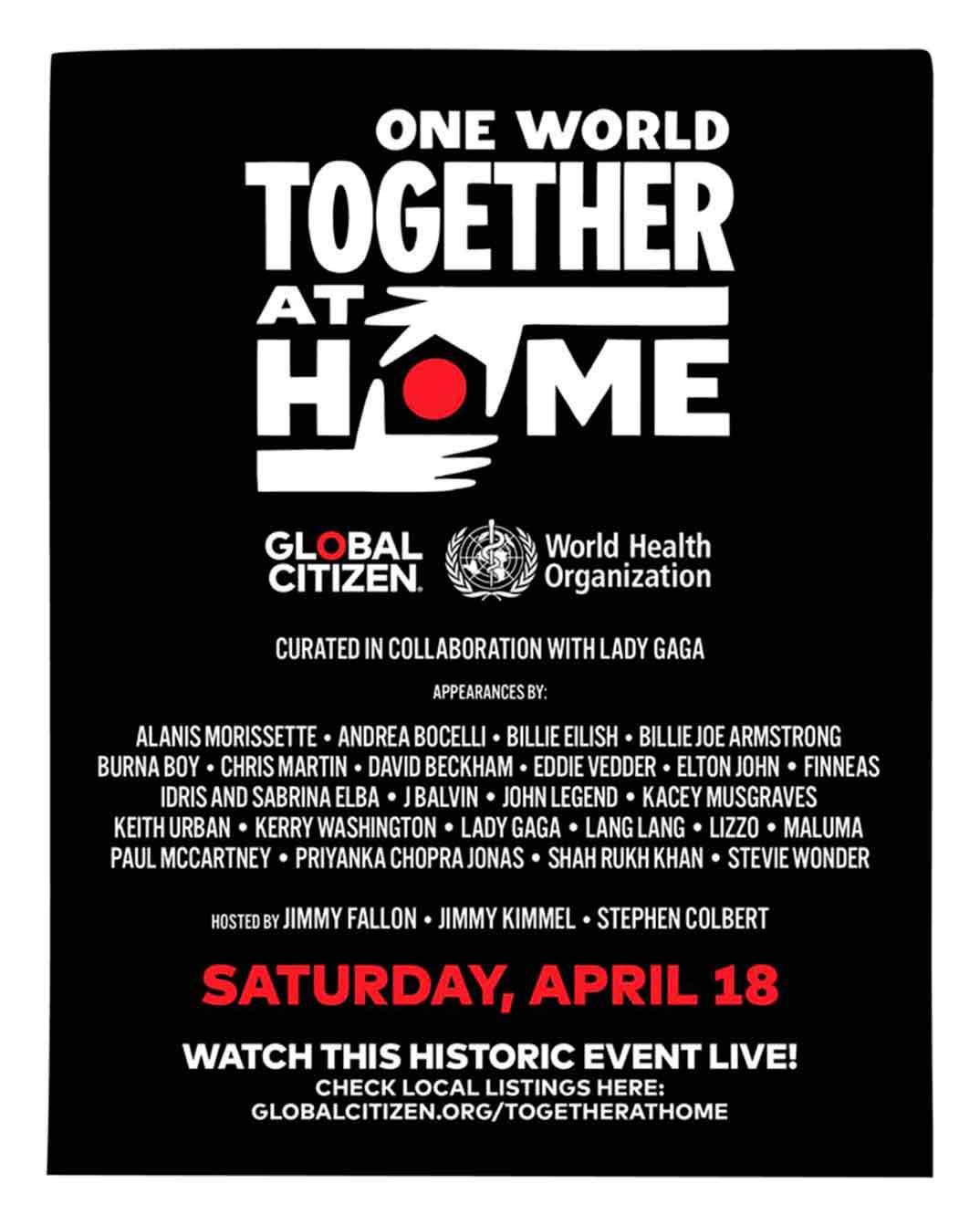 Together at Home - Concierto solidario