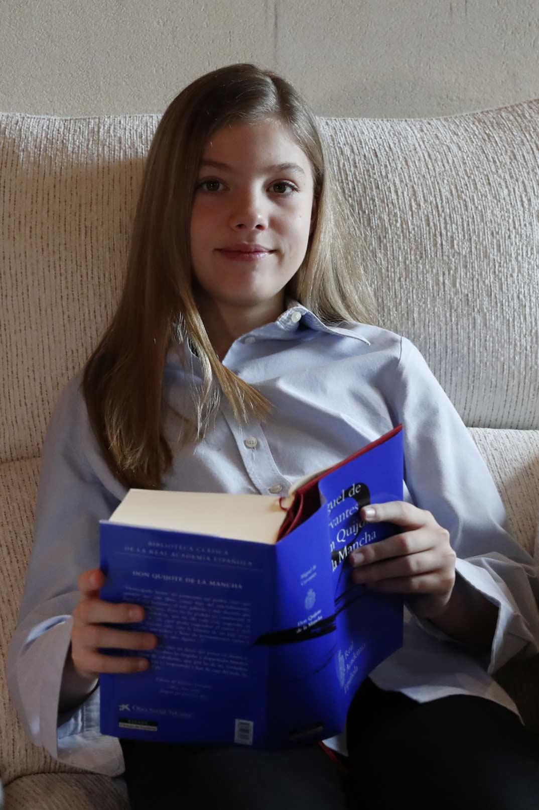 Infanta Sofía - Lectura El Quijote- Día del Libro © Casa S.M. El Rey