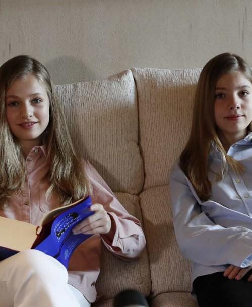 """Leonor y Sofía envían un mensaje de ánimo a los sanitarios: """"Todos sois importantes"""""""