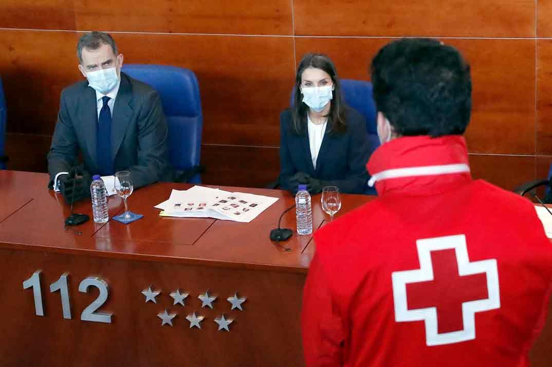 Los Reyes Felipe y Letizia visitan la Agencia de Seguridad y Emergencias Madrid 112© Casa S.M. El Rey