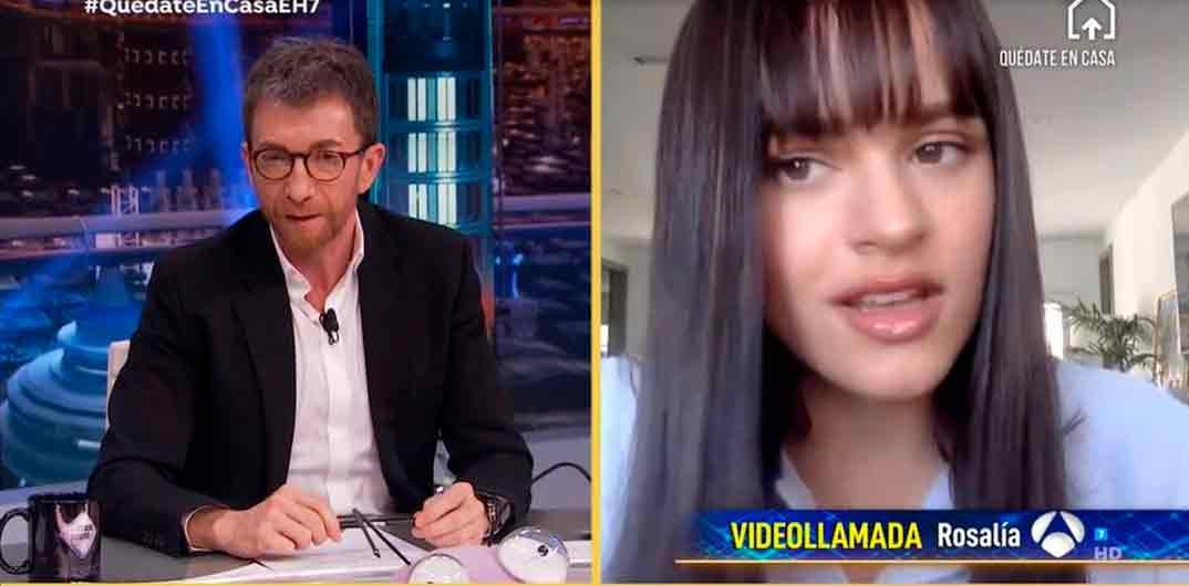 """Rosalía y Pablo Motos en """"El Hormiguero"""""""