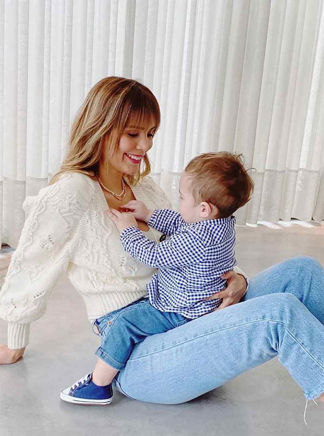 Rosanna Zanetti con su hijo Matteo © Instagram